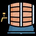 Wine Barrel Premium Icon Wine Barrel Novelty Lamp Icon
