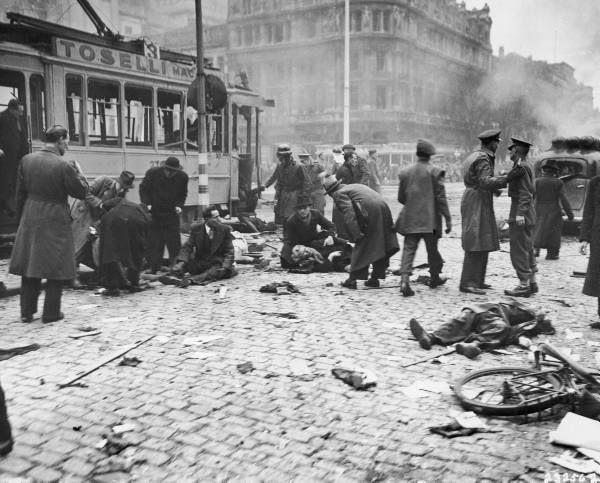 Antwerp : when a V1 hit the ground