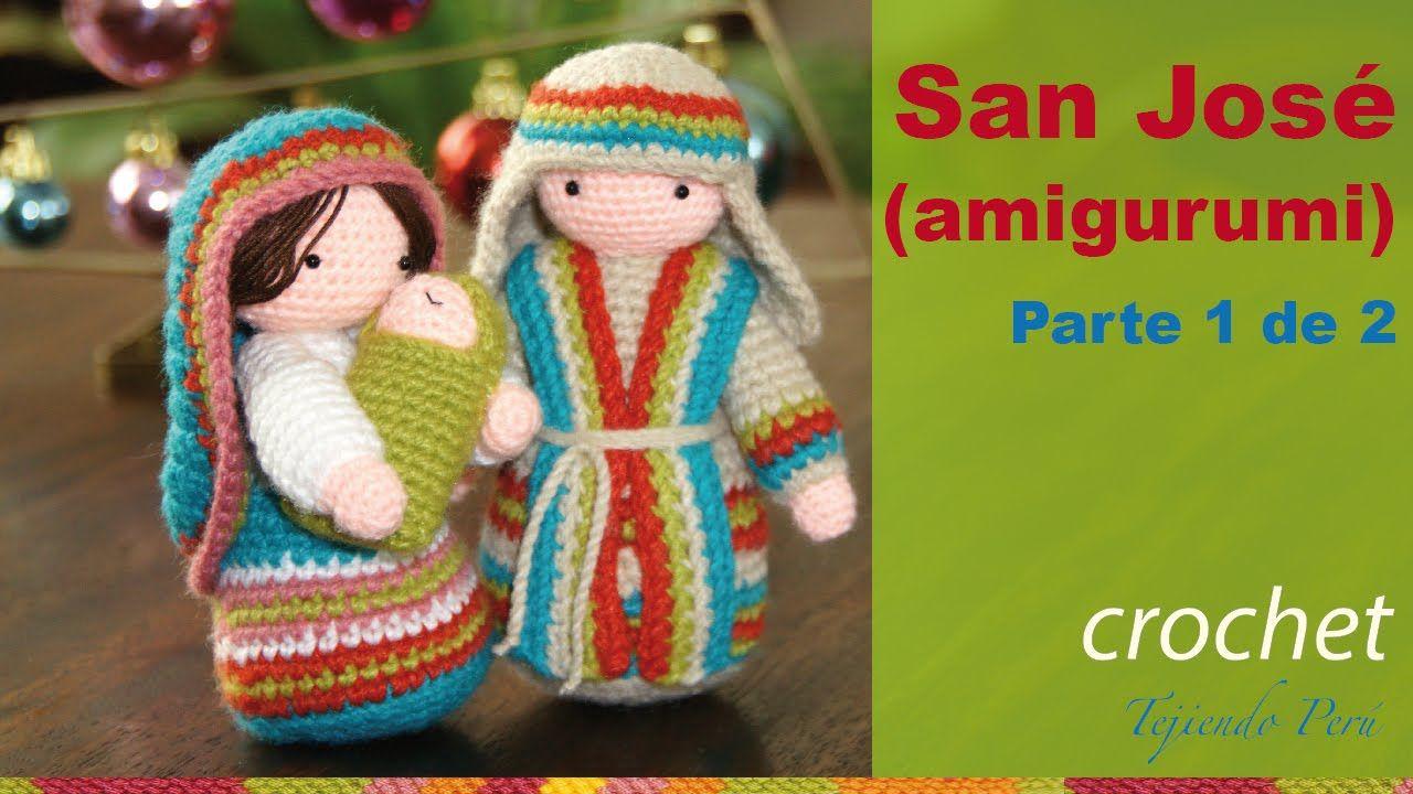 Amigurumis Navidad Paso A Paso : San josé tejido a crochet amigurumi parte de muñecas