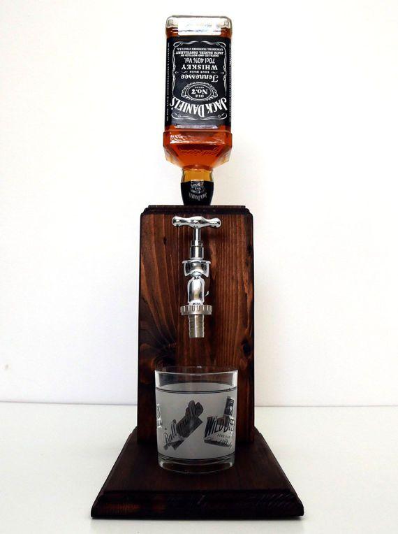 Handmade Wooden alcohol dispenser - Large Chrome | Dispensador de ...