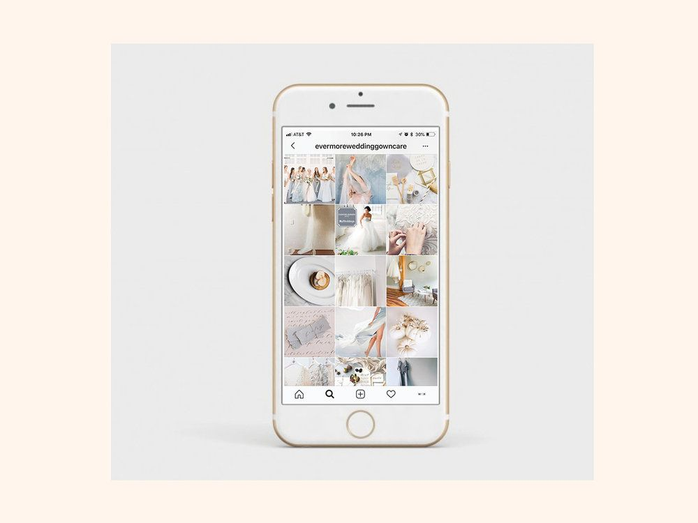 Instagram Feed Social Media Strategy Evermore Wedding Gown Care