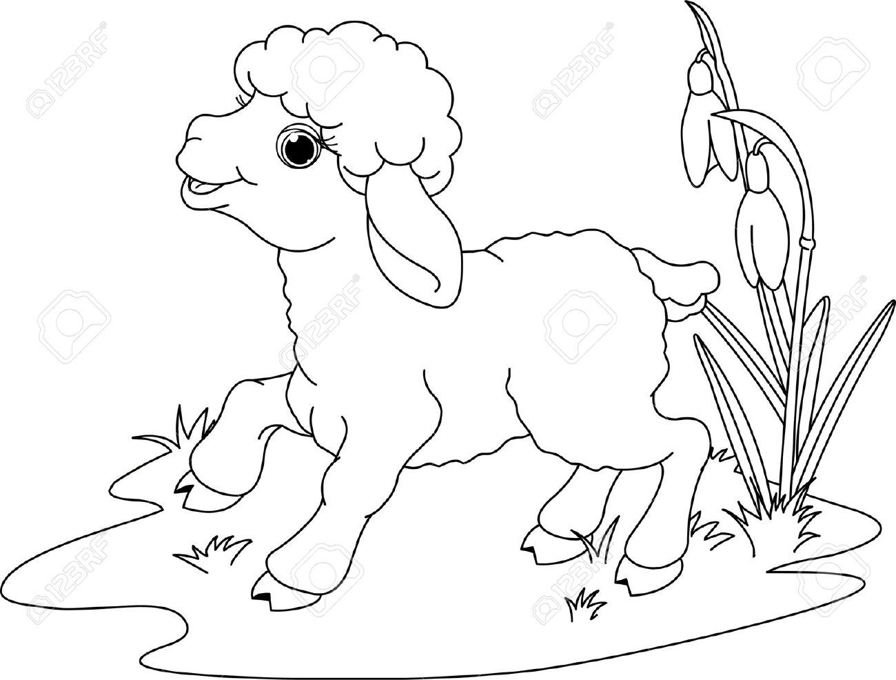 Easter Lamb Coloring Pages 002jpg 2 | cartoon | Pinterest
