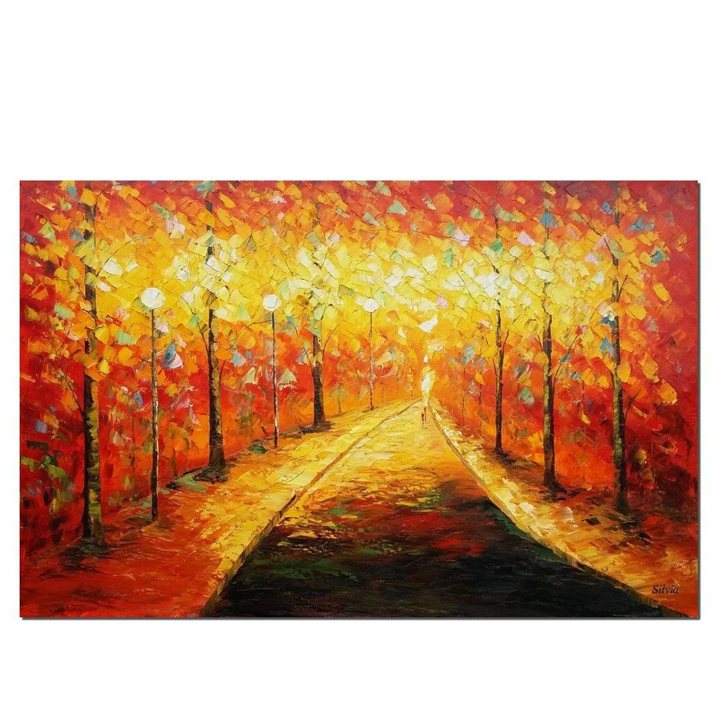 Landscape Painting, Autumn Forest Painting, Canvas Wall Art, Canvas ...