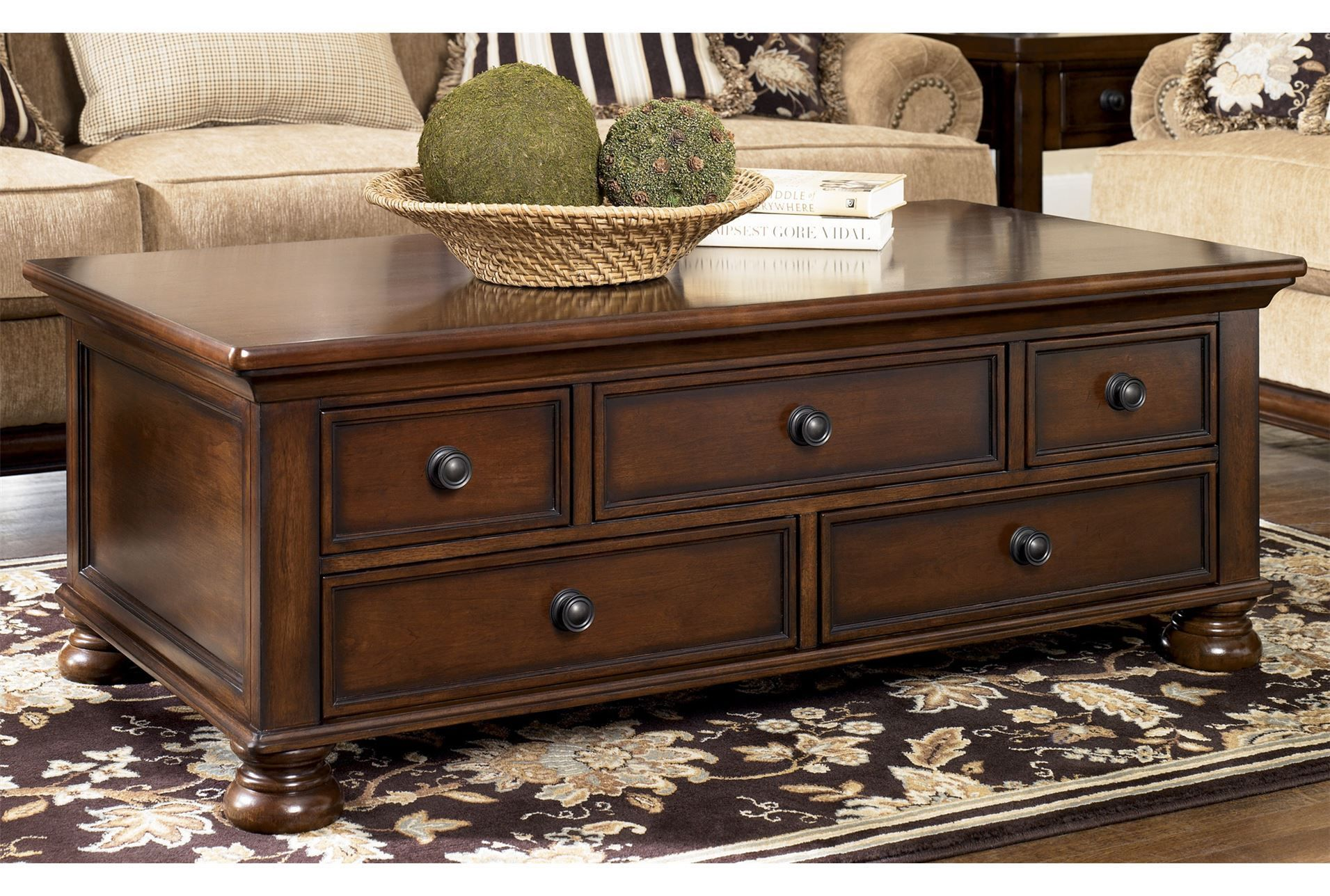 Porter Storage Cocktail Table Living Spaces Coffee Table With Drawers Living Room Coffee Table Coffee Table Wood [ 1288 x 1911 Pixel ]