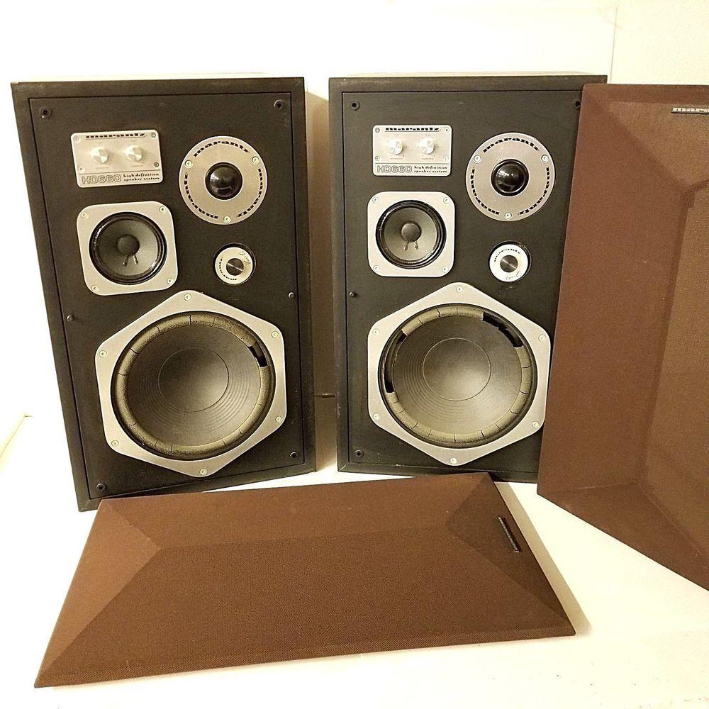 2 Marantz HD 660 High Definition HD660 Floor Stereo Speaker System