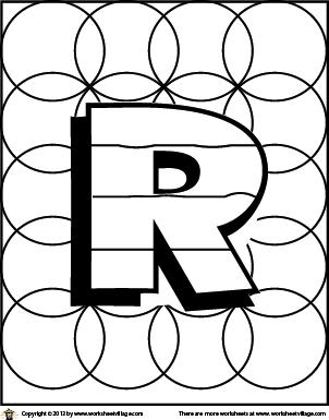 Color The Letter R Harfler Alfabe
