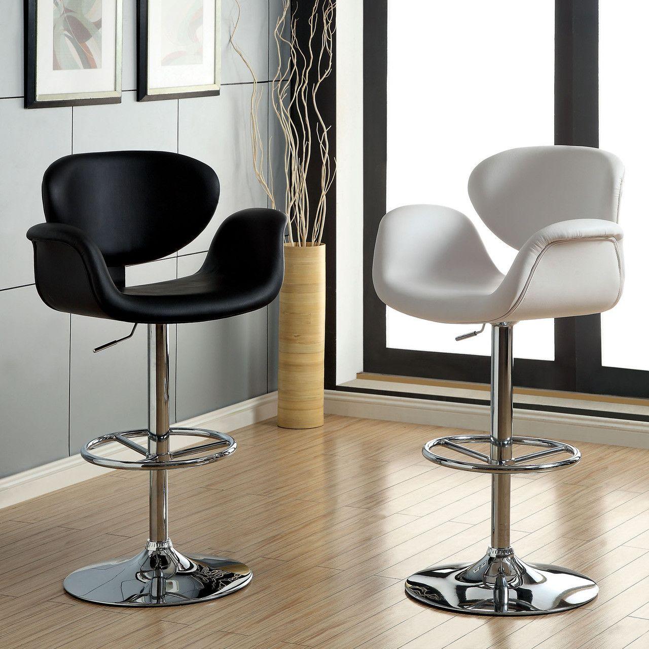 Furniture Of America Height Adjustable Bar Stool -Br6918Bk