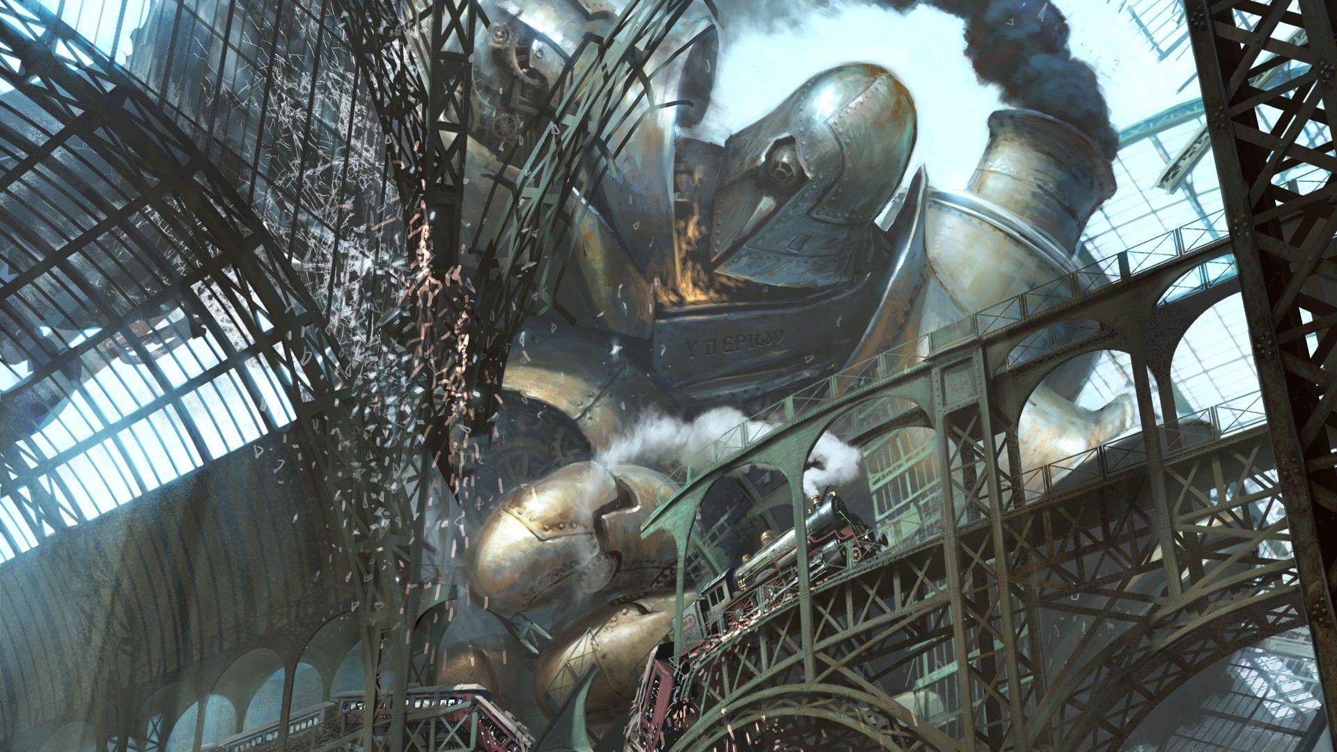Pin By Elena Callegari On Steampunk Steampunk Wallpaper