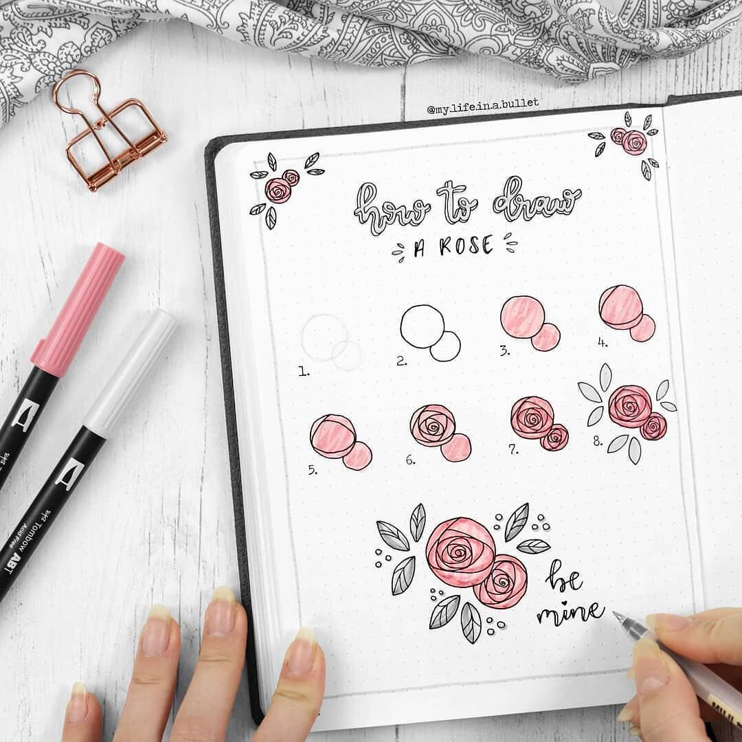 A Lovely Step By Step Post Of How To Draw A Beautiful Rose By My