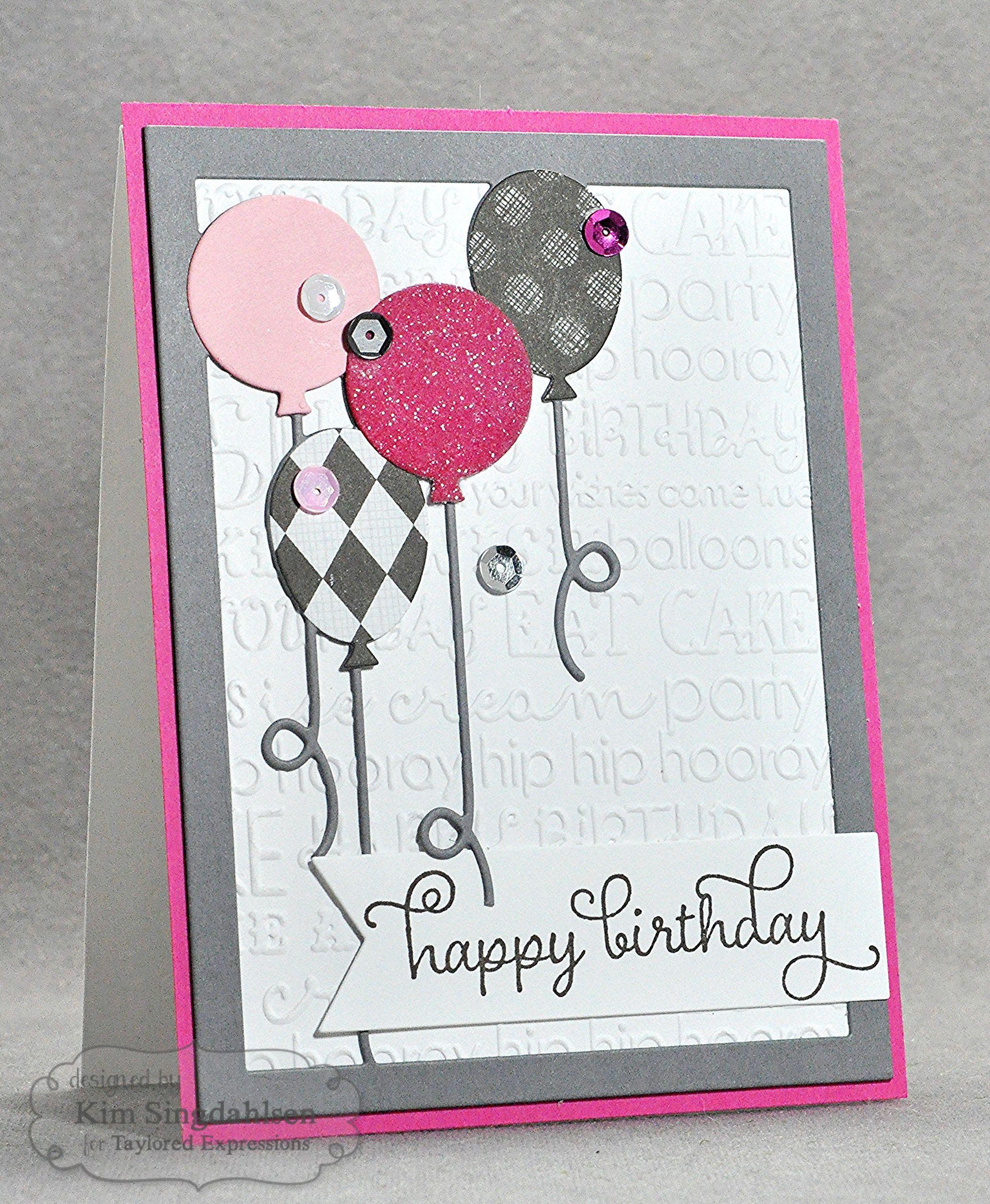 Glittered Birthday Balloons By Kim Singdahlsen