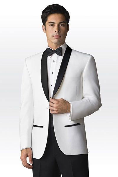 New Arrived White Satin Men Suits Blazer Luxury Slim Fit Tailored ...