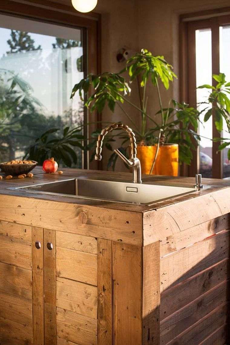 lot central en palette bar et tabourets faire soi m me cuisine pinterest palette bois. Black Bedroom Furniture Sets. Home Design Ideas