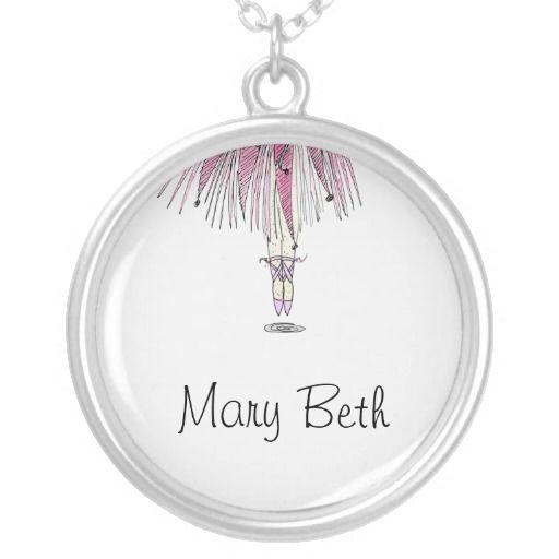 Sentimental Wedding Gift Ideas: Personalized Ballerina Tutu Necklace