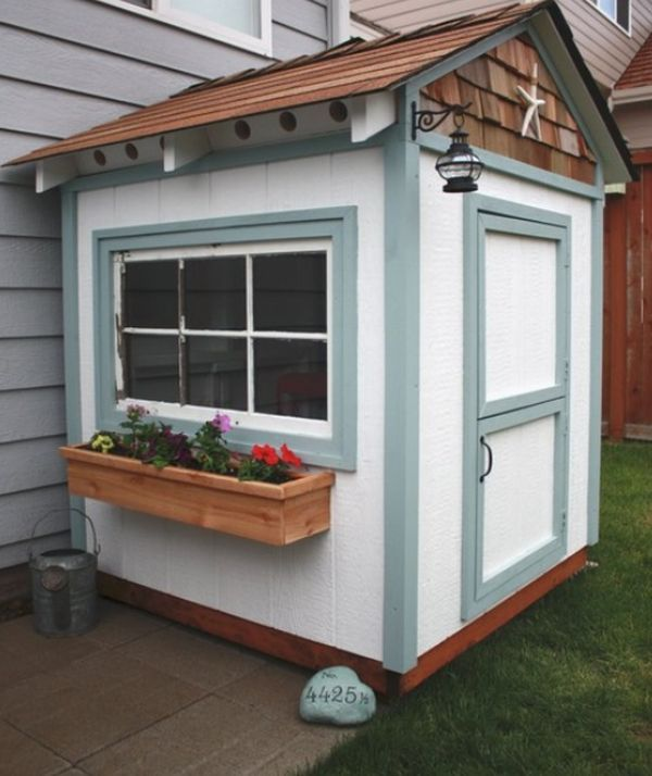 Our Steel Chief Timber Sheds Can Be Painted To Suit Any Backyard Or Colour Scheme How Cute Is This One