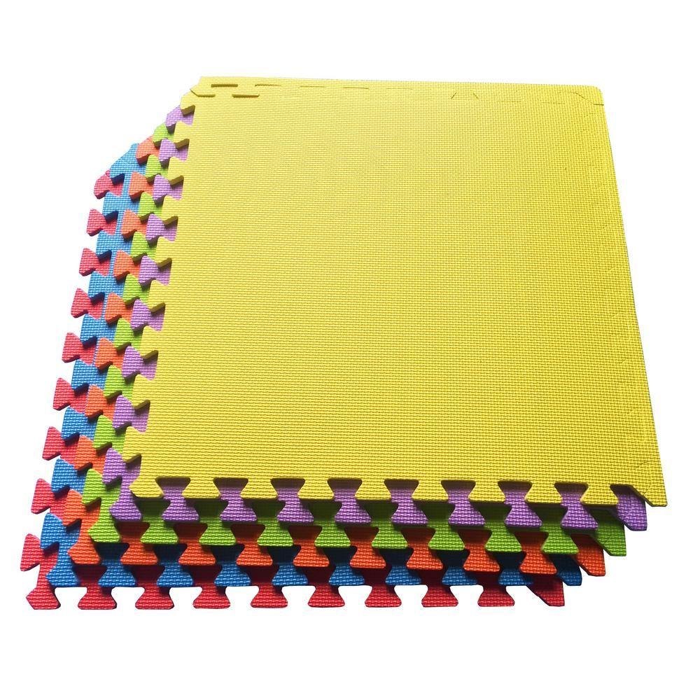 Ottomanson Multi Purpose Multi Color 24 In X 24 In Eva Foam