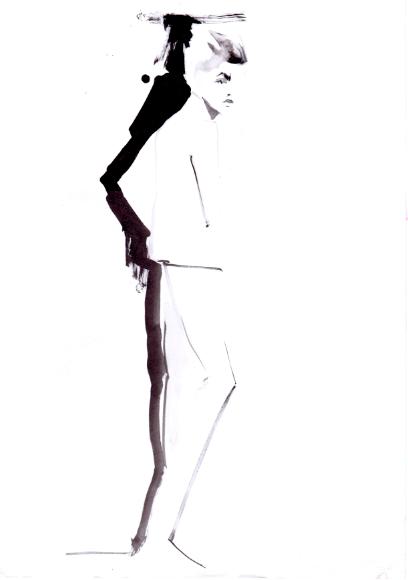 BLACK INK fashion illustrations - Baiba Ladiga illustration