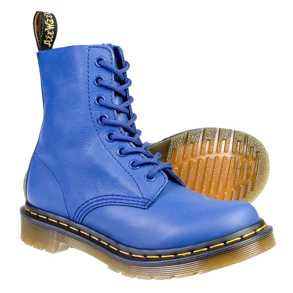 low price sale huge inventory factory authentic Dr Martens Pascal Boots (Wild Blue) | Boots, Blue boots ...