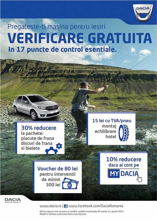 Verificare gratuita si promotii la Dacia