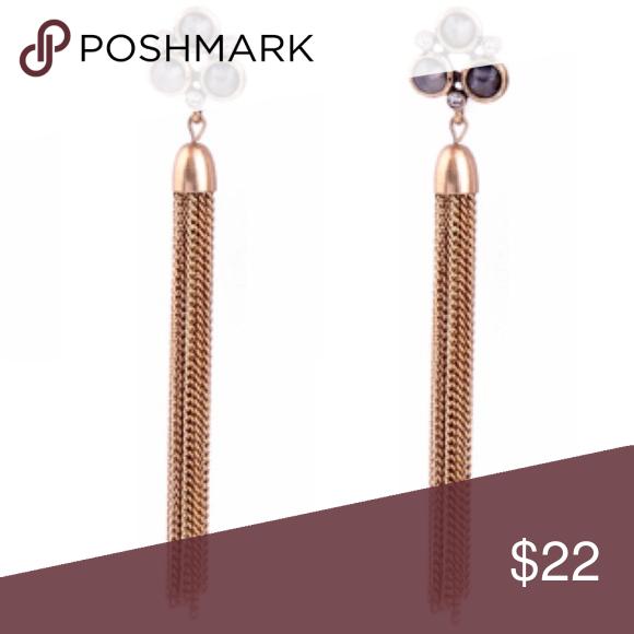 Bronze Chain Statement Earrings
