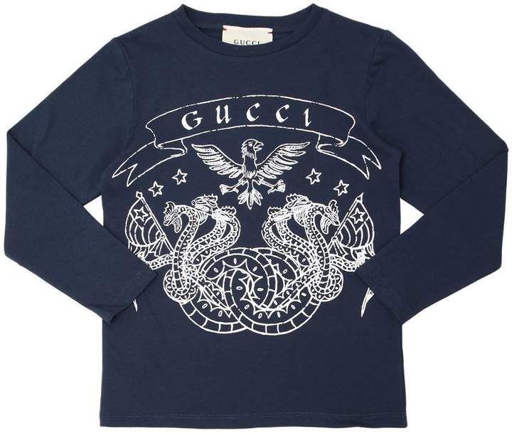 b78284f7880 Gucci Printed Cotton Jersey T-Shirt  gucci  baby   ShopStyle  MyShopStyle