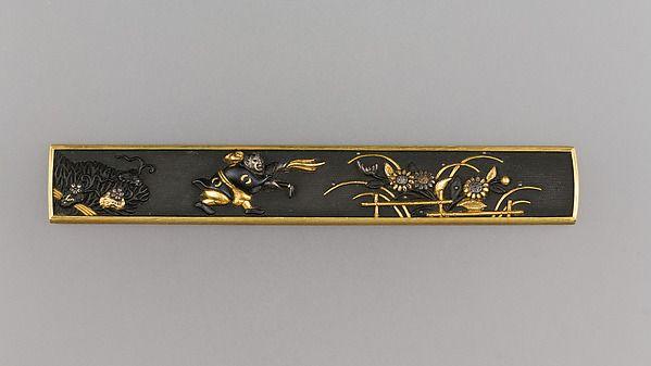 """Kozuka"" Artist Gotō Eijō. Japan. Edo Period (17th century). Gold, copper-gold alloy, and silver."