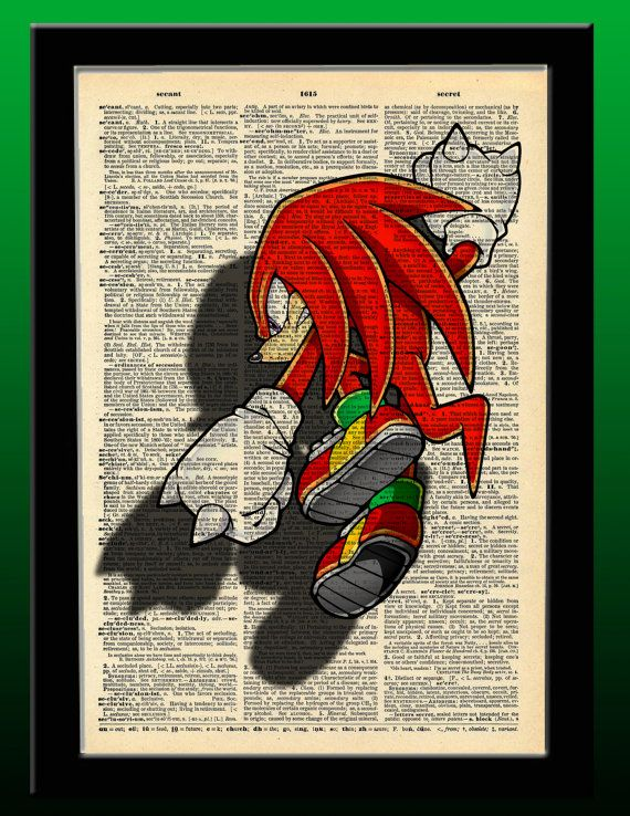 Sonic The Hedgehog Inspired Knuckles The by indiefrogstudios