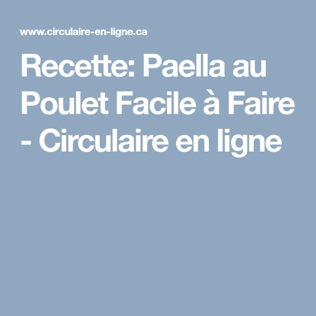 Paella Au Poulet Facile A Faire Recette Poulet Recette Paella Au Poulet Et Poulet