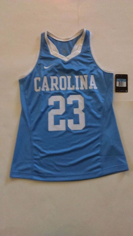 c95efb4c051e Nike  23 Women s North Carolina Lacrosse Jersey Medium Dri Fit NWT  Nike…