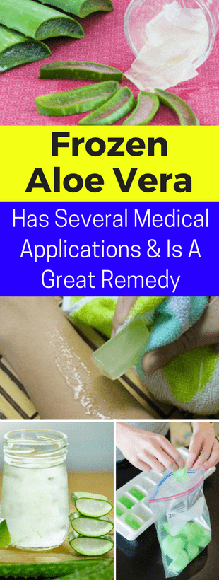 Frozen Aloe Vera Gel Has Several Medical Applications And Is A Great Remedy!!!  #beautytips  #fitnes...