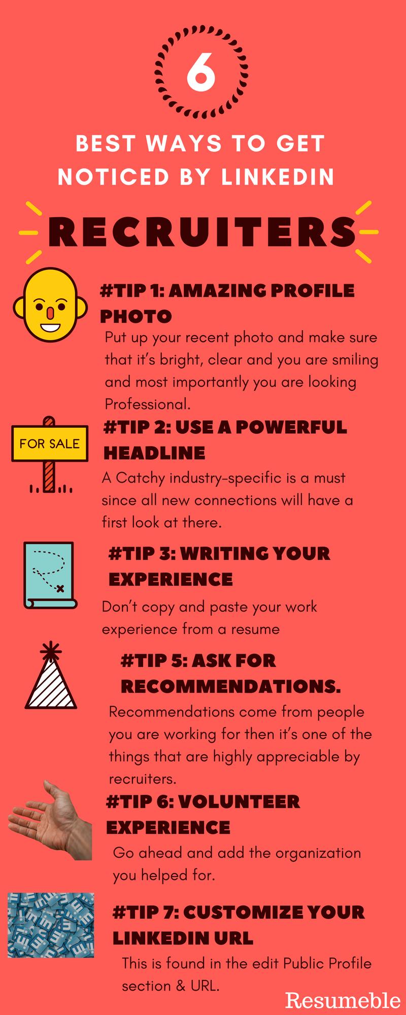 6 Best Ways To Get Noticed By Linkedin Recruiters Linkedin Career Careergoals How To Get Recruitment Linkedin
