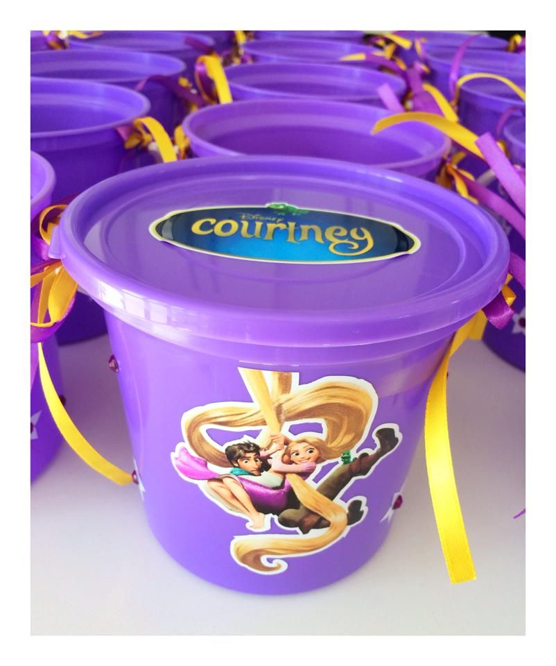 Tangled Party Bucket - to order email jackie@babazoo.co.za