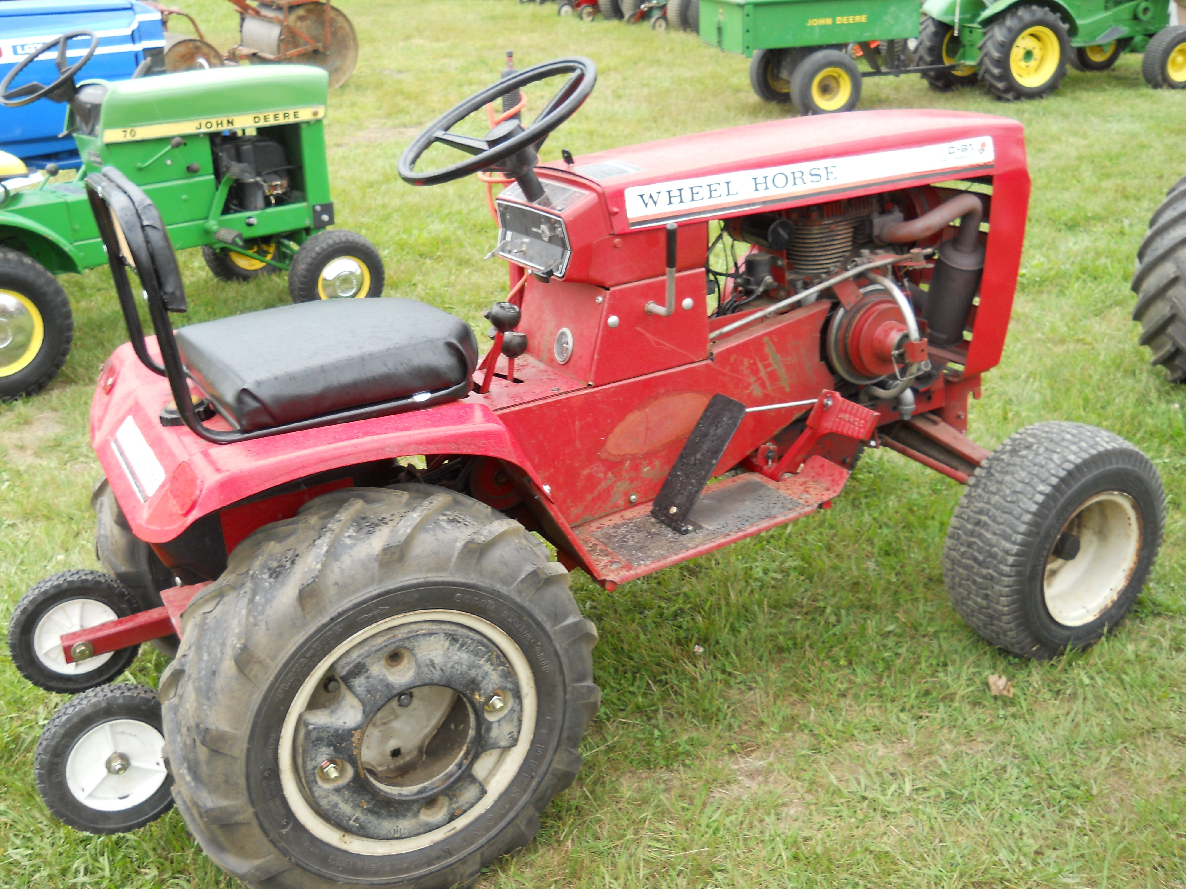 Wheel horse c 81 eight speed tractor https www youtube