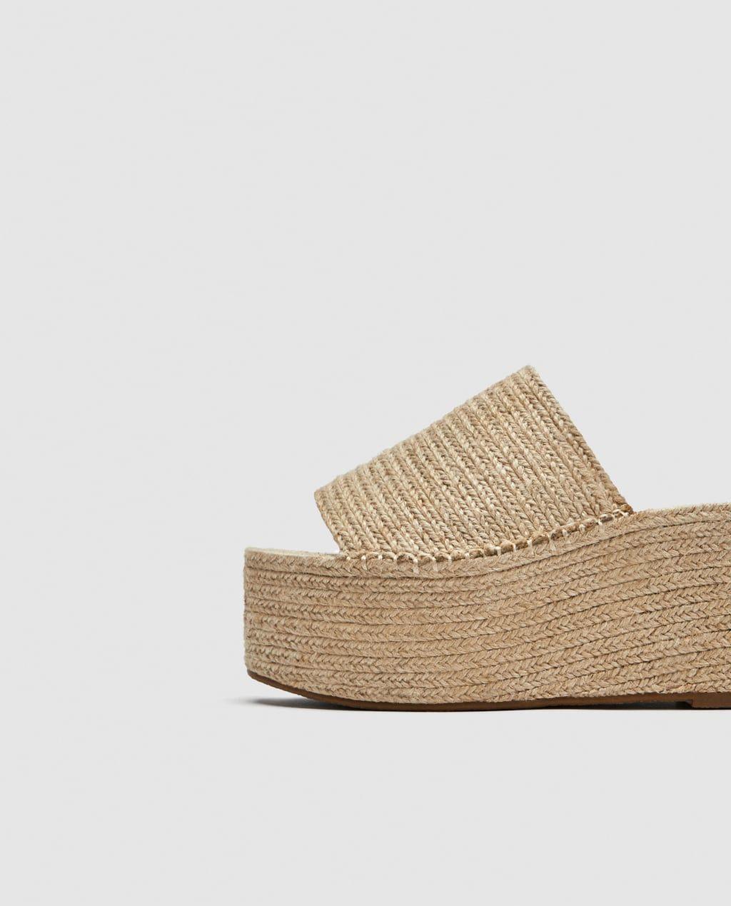 9e0b6b4b Imagen 5 de SANDALIA PLATAFORMA YUTE de Zara | Zapatos de plataforma ...