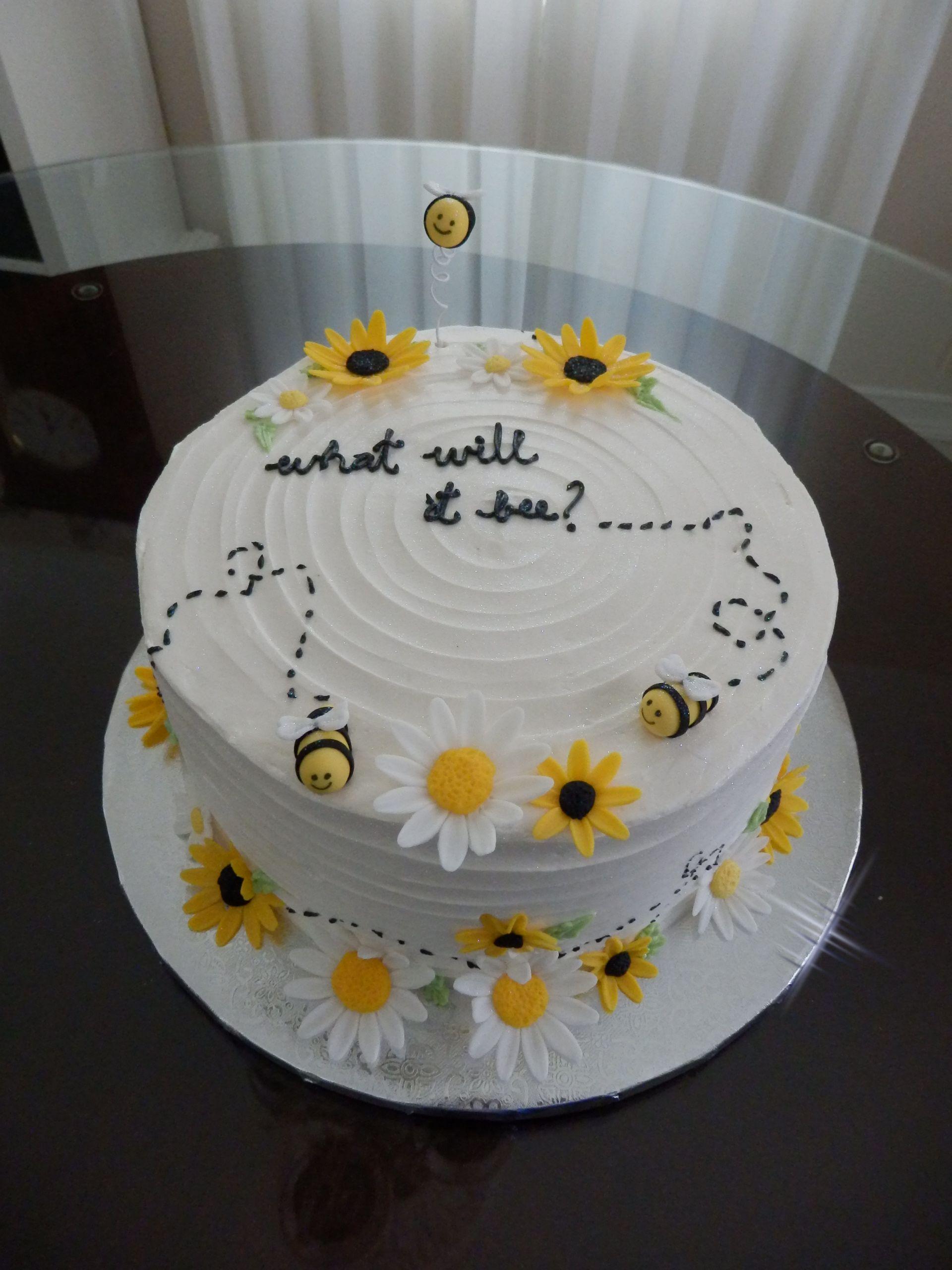 Bee Theme Baby Shower Cake Festa De Abelha Bolo De Festa Glace