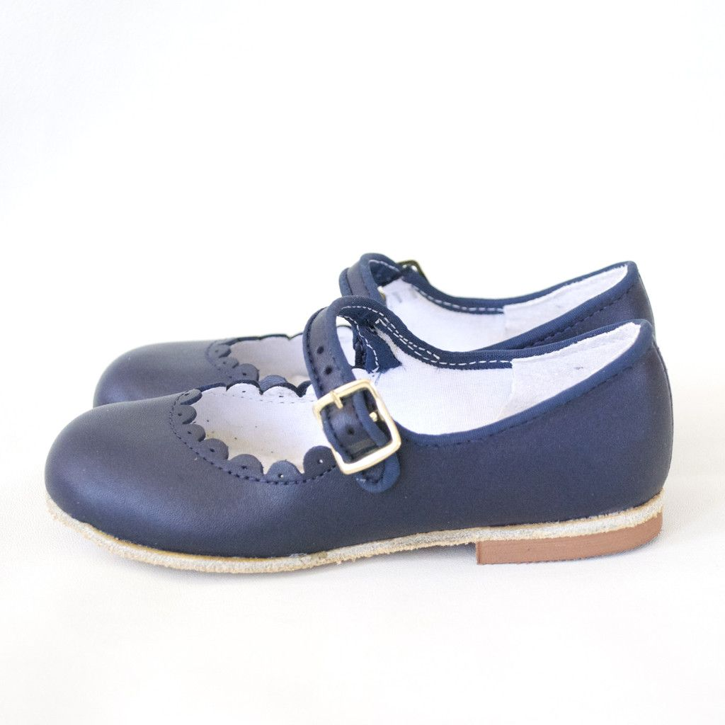 29d0218b51fc custom made navy blue mary janes for girls wide width