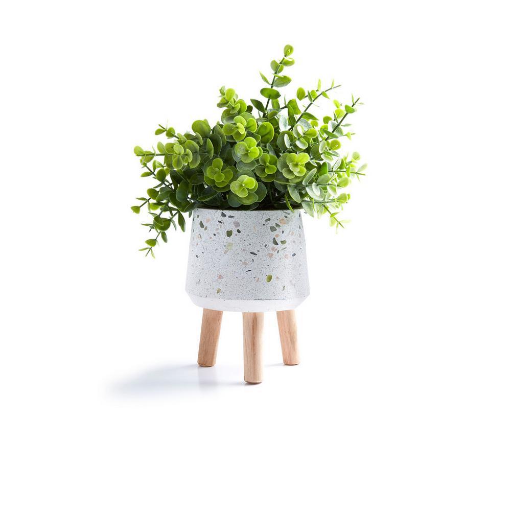 Grande plante artificielle avec pot blanc Accessoires
