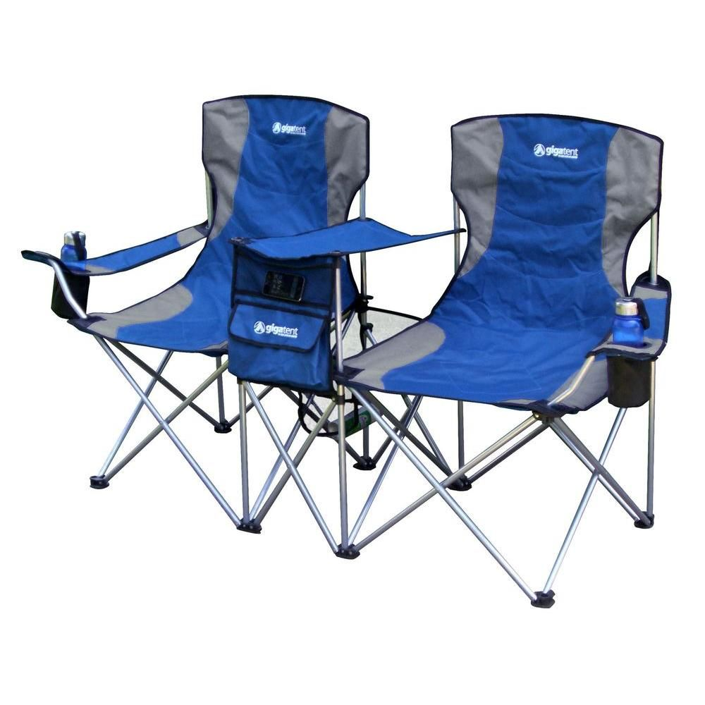 Groovy Gigatent Sit Side By Side Double Folding Padded Camping Theyellowbook Wood Chair Design Ideas Theyellowbookinfo