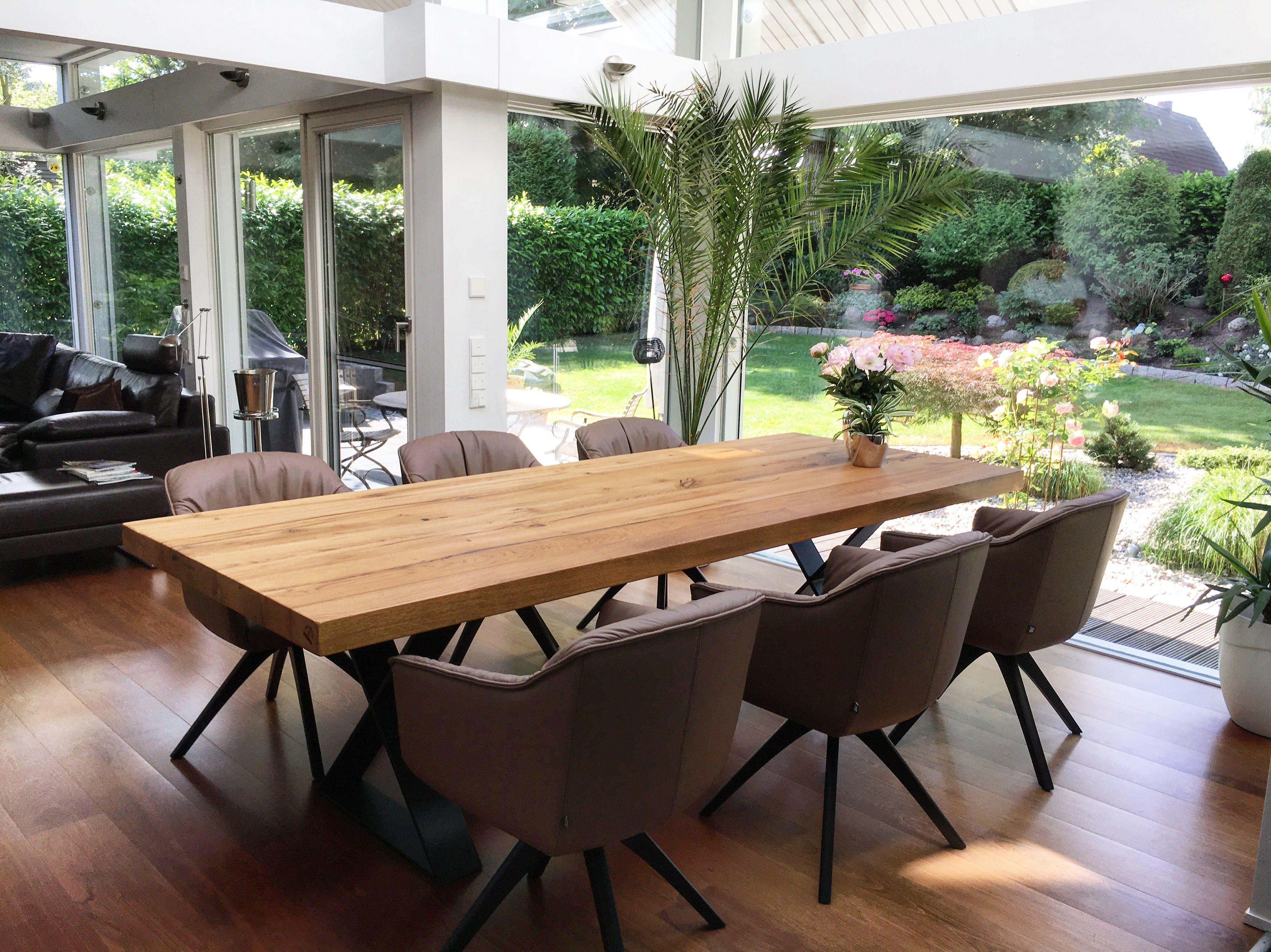 Esstisch Eichenholz Holz massiv Massivholztisch auf Maß