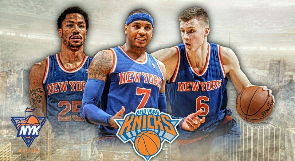 Image result for derrick rose carmelo anthony kristaps porzingis