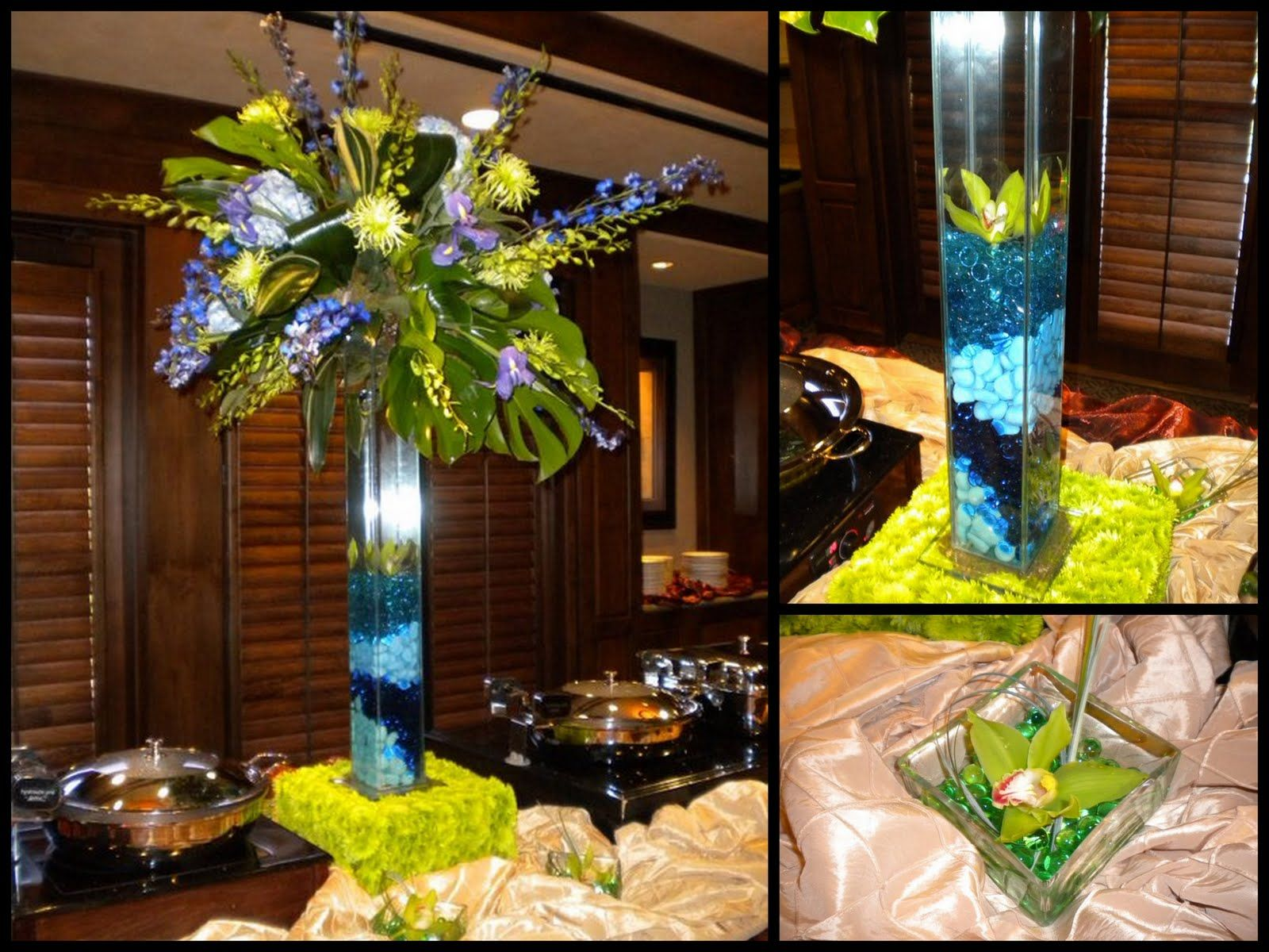 Photos Of Large Floral Centerpiece For Buffet Table - We