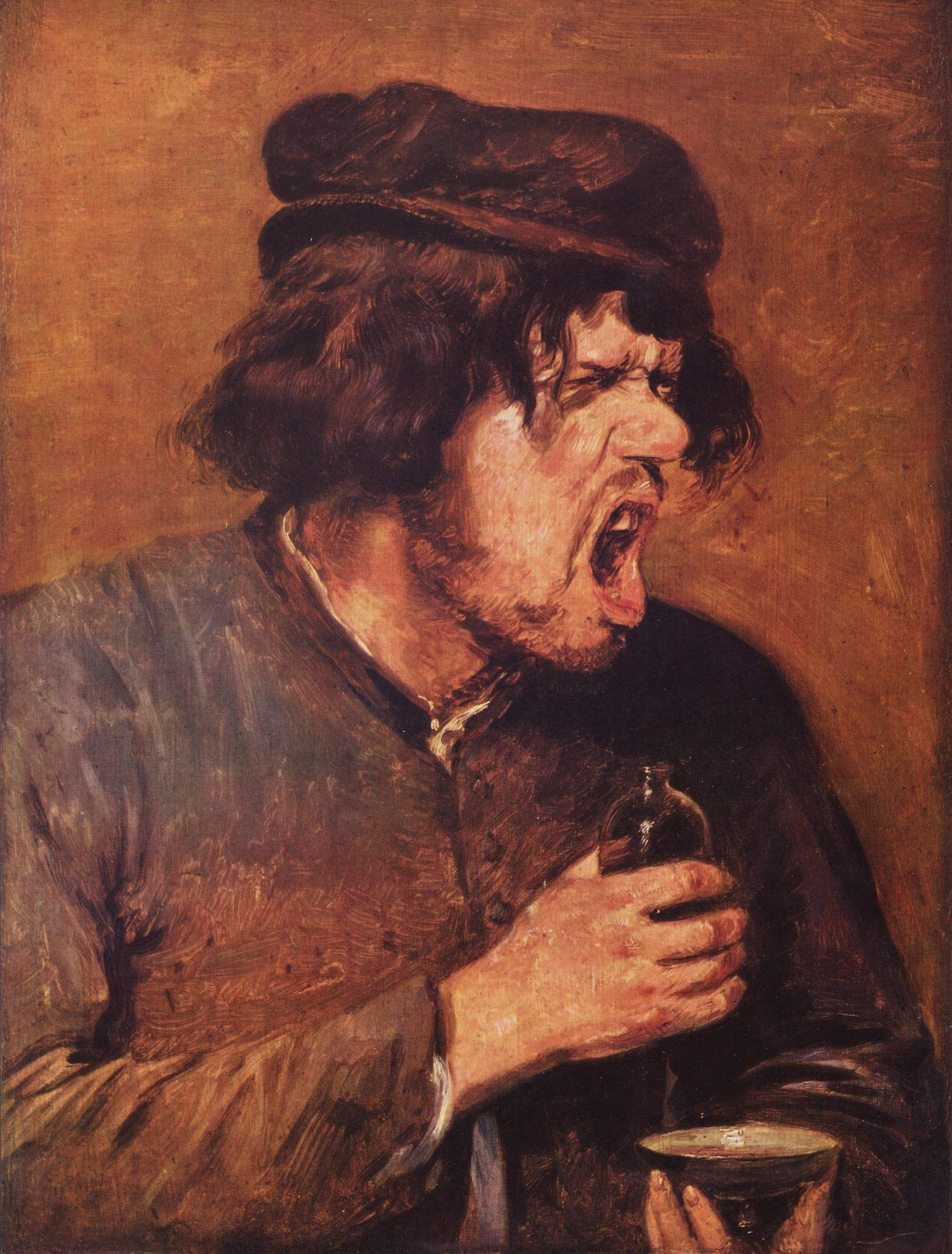 "Adriaen Brouwer, The Bitter Drink, c. 1630–1640. Brouwer's expressive  peasants are typical of ""low-life"" genre painting"