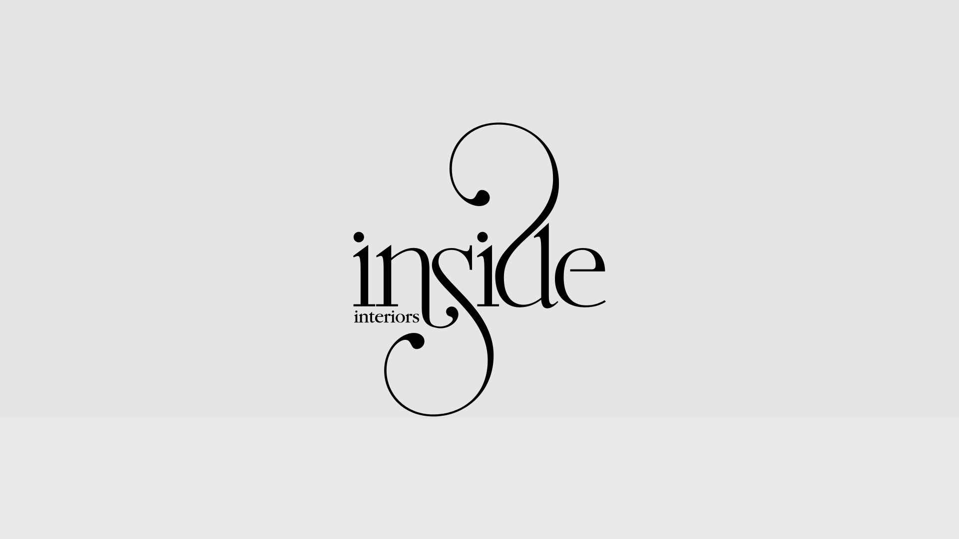 inside interiors company branding logo design typo pinterest logos interiors and typography