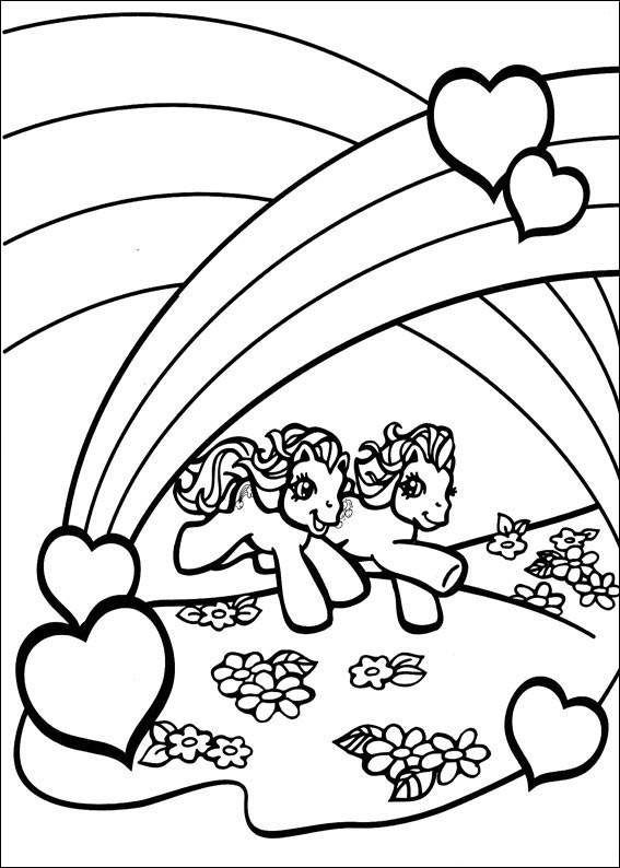 My Little Pony Under The Rainbow Coloring Page