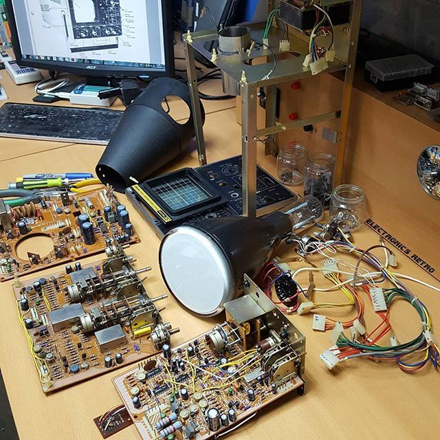 Part 2 Restoration of the old oscilloscope BK 1472