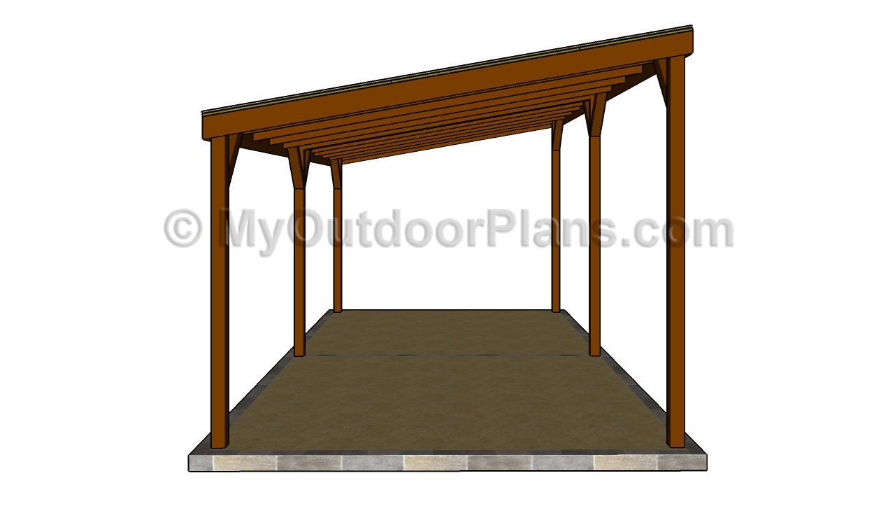 Diy wood carport wood carport designs free outdoor for Lean to plans free