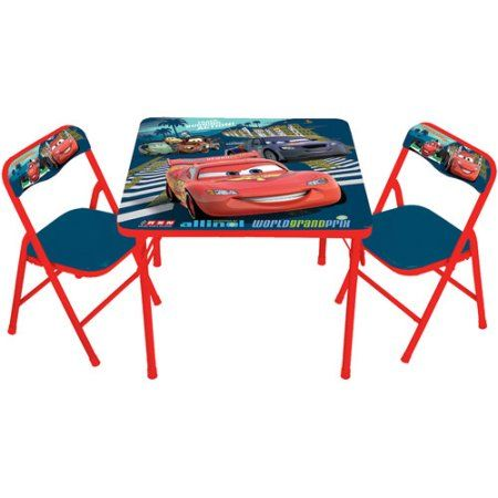 Disney Cars 2 Activity Table and 2 Chairs Set, Multicolor ...