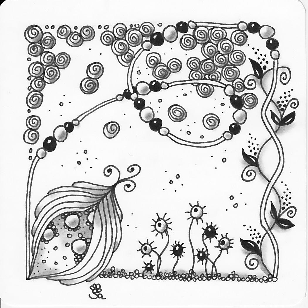 Zentangle, Tangles, Zendoodle, Kritzeln, meditatives Zeichnen ...
