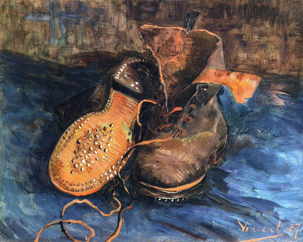 @VanGoghTheLife: #VanGogh of the Day: Pair of Boots, early 1887. Oil on canvas, 33 x 41 cm. Baltimore Museum of Art (@artbma), MD.