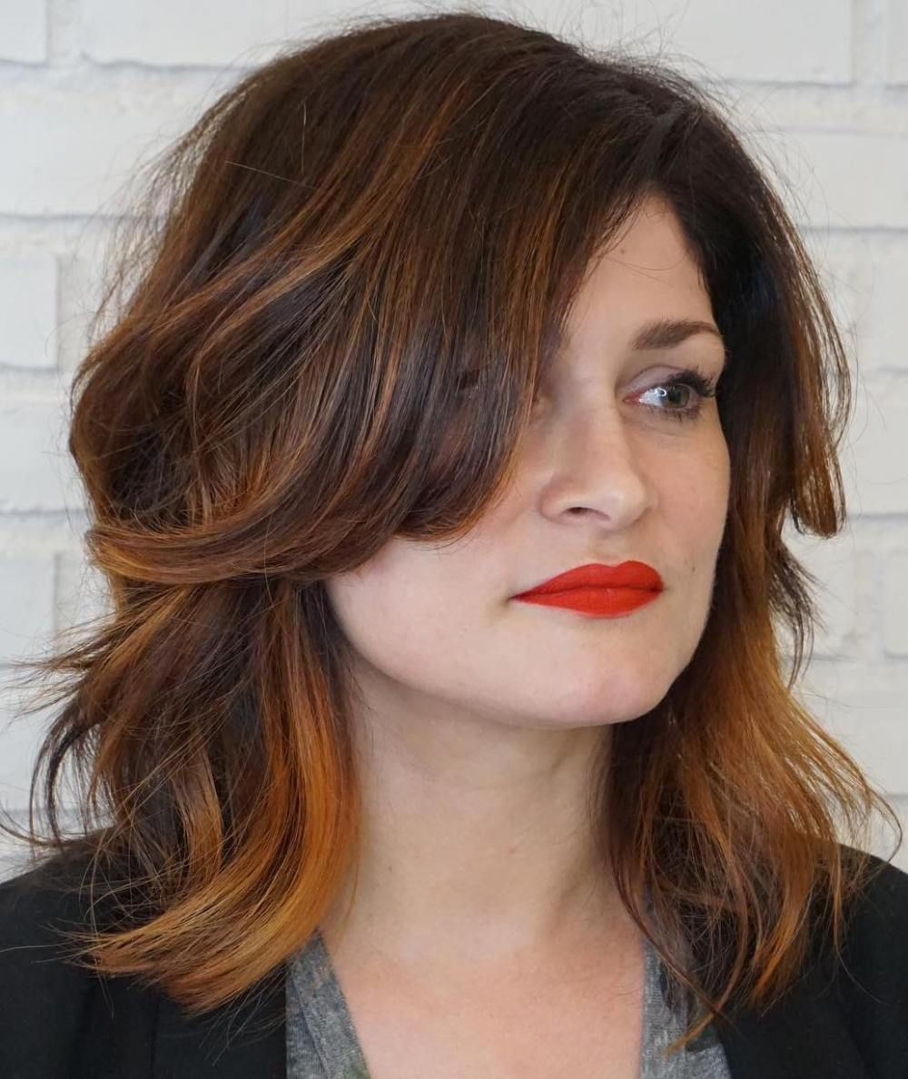 50 Best Hairstyles for Square Faces Rounding the Angles in ...