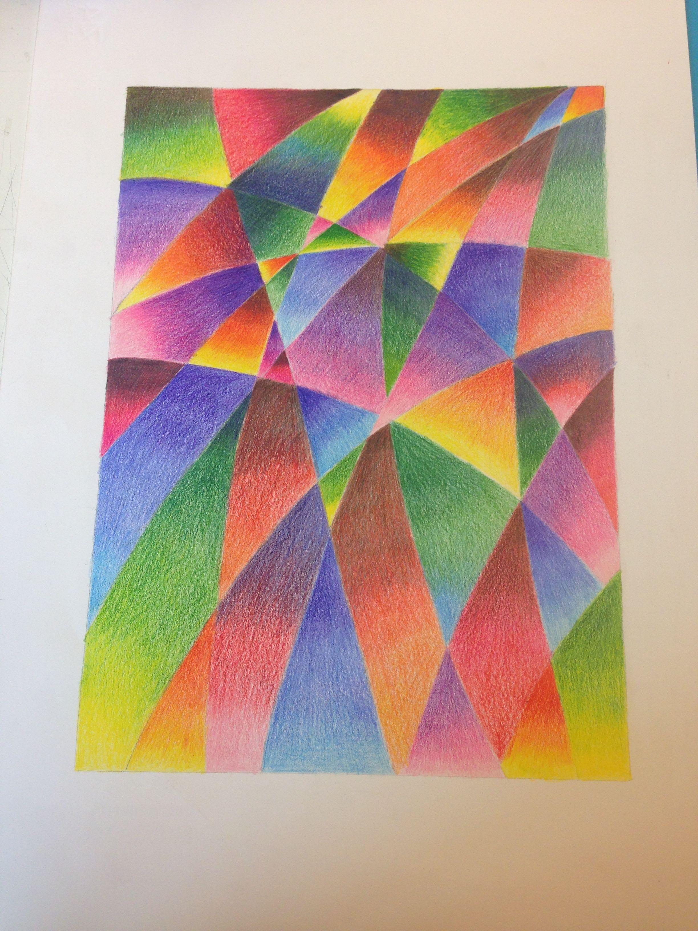 Sfumature Matite Colorate Pittura E Disegno Disegni Astratti